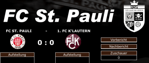Liveticker FC St. Pauli - Basis St. Pauli