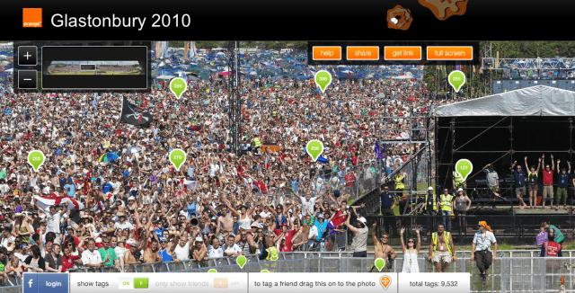 GlastoTag - One huge photo. A whole load of tags. | Glastonbury Music Festival | Orange UK