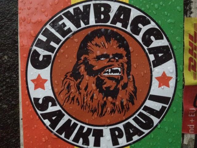 Chewbacca Sankt Pauli Aufkleber (cc by-nc http://ringfahndung.de)