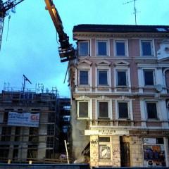 Abriss des Hauses an der Bernhard-Nocht-Strasse (noBNQ)