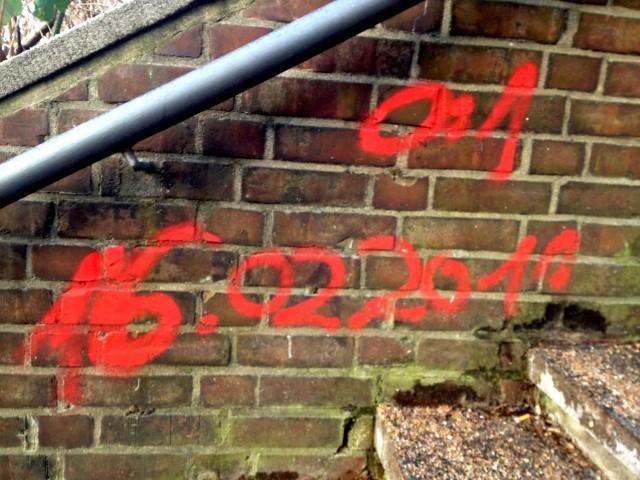 """""""0:1 - 16.01.2011"""" Derbysieger FC St. Pauli (Grafitti, Hamburg)"""