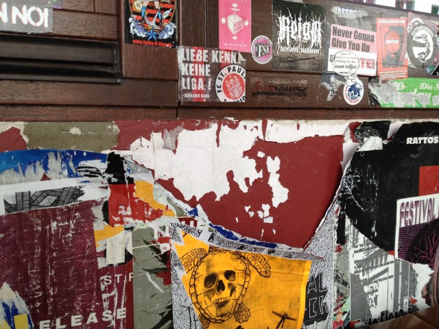 Sticker Wand - Restaurant Backbord St. Pauli