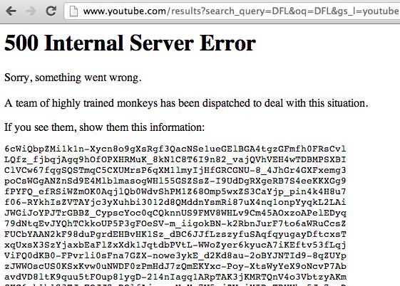 Fehler 500 DFL / DFB Youtube